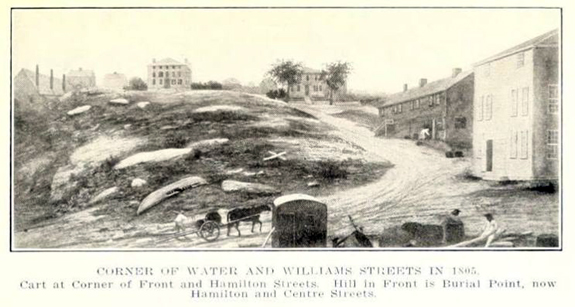 1805 Corner of Water and William Streets in New Bedford, Ma. - www.WhalingCity.net