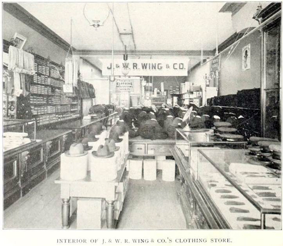 Interior of J. & W.R. Wing & Co. Store - 1897 - New Bedford, Ma. - www.WhalingCity.net