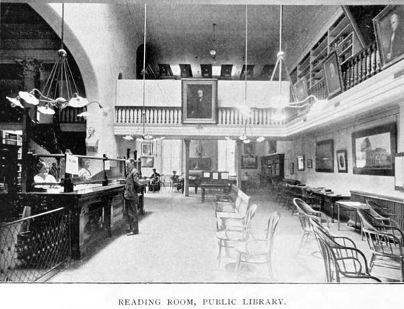 1897 New Bedford Library Reading Room - www.WhalingCity.net