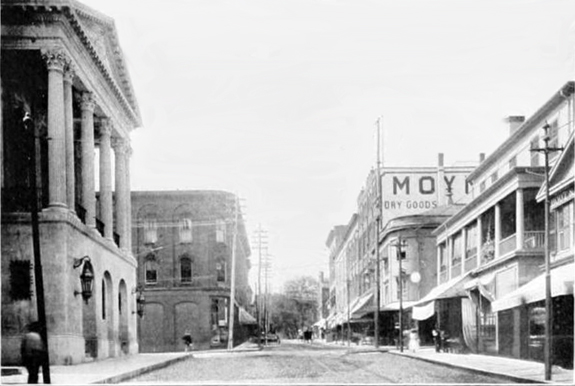 1897 Union Street in New Bedford, Ma.   Looking West before the widening - www.WhalingCity.net