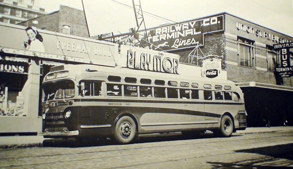 1947 and later Union Street Railway  - Bus and Bus Station New Bedford - www.WhalingCity.net