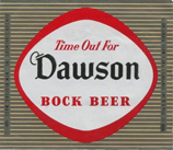 1956 Dawson Beer Label - New BEdford, Ma. www.WhalingCity.net