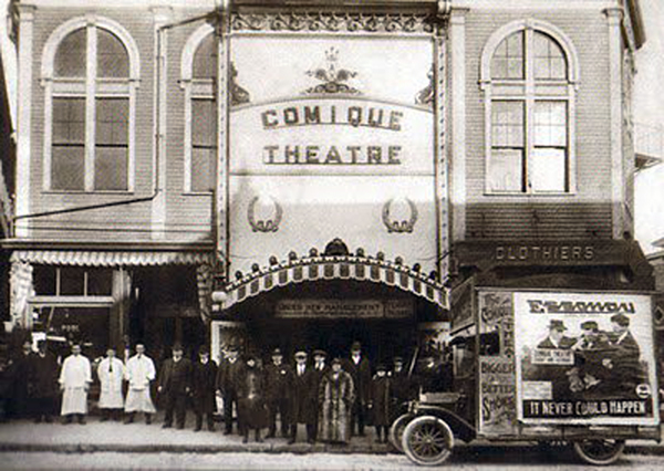 1916 Comique Theater -  - Acushnet AVe and Hicks St. New Bedford, Ma - www.WhalingCity.net