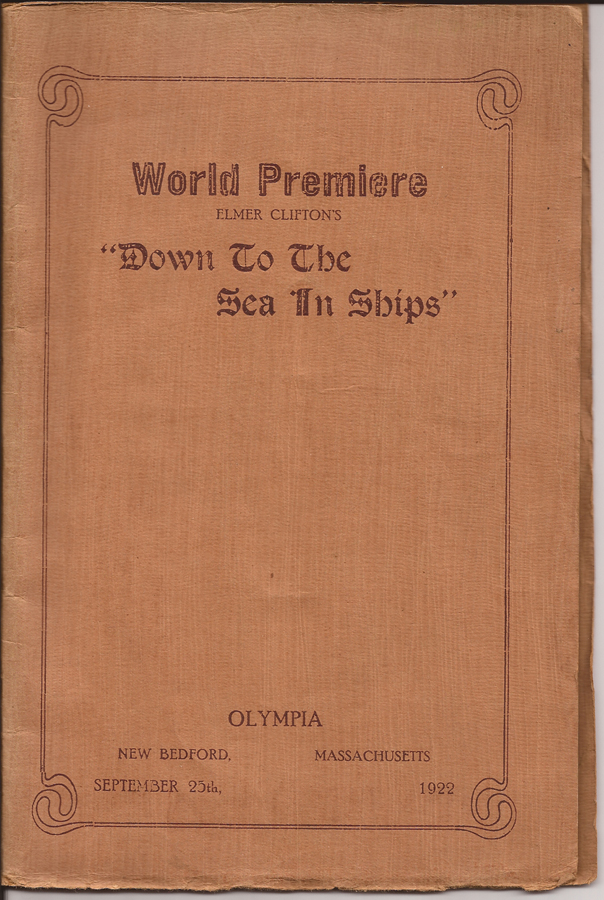 Down To The Sea In Ships - Programme booklet - WhalingCity.net