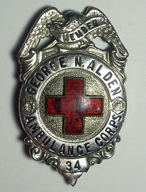 George N. Alden Ambulance Corps badge - www.WhalingCity.net