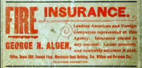 Directory ad - George N. Alden Insurance - www.Whalingcity.net